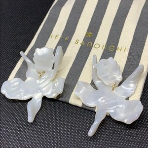 BRAND NEW Lela Sadoughi Paper Lily Earrings